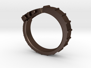 Guitar ring in Matte Bronze Steel