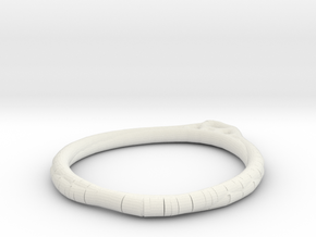Minimalist Bracelet 6 in White Natural Versatile Plastic