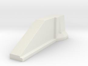 02.022.001_BETONÜBERGANG zur Leitplanke in White Natural Versatile Plastic