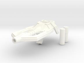 Shrapnel Gun in White Strong & Flexible Polished