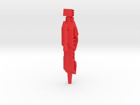 G2P-005c - Chromehead Laser Gun in Red Processed Versatile Plastic