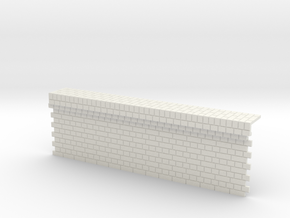 7mm English Bond Brick Station Platform Facing Sec in White Natural Versatile Plastic