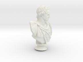 George Washington Monument Bust Sculpture in White Natural Versatile Plastic