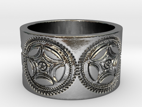 Gears of War Ring Size 10 in Polished Silver