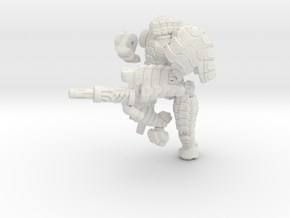Mech suit with twin weapons. (8) in White Natural Versatile Plastic