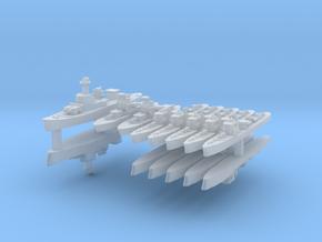 Thai Fleet 1:2400 (14 Ships) in Smooth Fine Detail Plastic