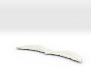 Arkham Birdarang v1 in White Natural Versatile Plastic