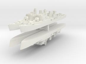 Commandante Riviera B 1:3000 x4 in White Natural Versatile Plastic