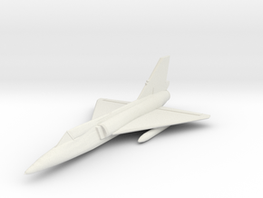 F-106 1:285 (6mm) x1 in White Strong & Flexible