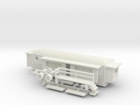 Wohnwagen rundes Dach  1:160 (n scale) - Ver. 2 in White Natural Versatile Plastic