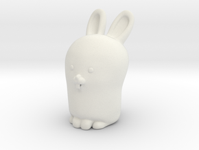 Glenda the Bunny in White Natural Versatile Plastic