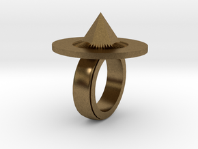 Spike Ring 20x20mm in Natural Bronze