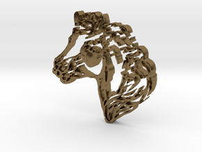 Horse Head in Natural Bronze