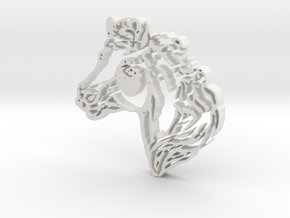 Horse Head in White Natural Versatile Plastic