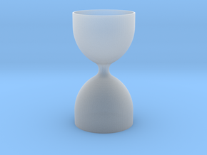 Hourglass V1 in Smooth Fine Detail Plastic