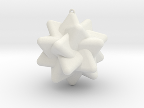 Five Tetrahedra in White Natural Versatile Plastic