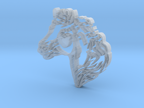 Horse Head in Smooth Fine Detail Plastic
