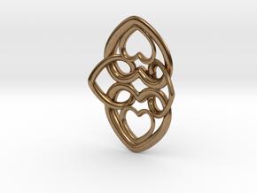 Heart Motif Earring in Natural Brass