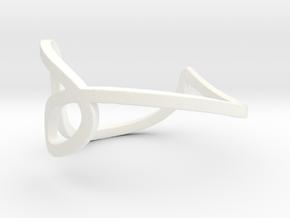 LOVE in White Processed Versatile Plastic