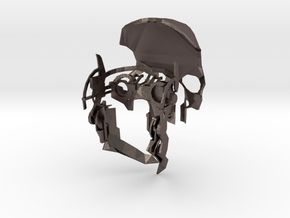 Assassin Mask Prototype in Polished Bronzed Silver Steel