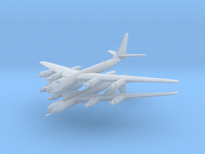 Tu-95 1:600 x2 in Smooth Fine Detail Plastic