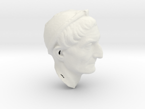 PriestBust2cm in White Natural Versatile Plastic