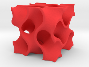 Minimal Surface Borg in Red Processed Versatile Plastic