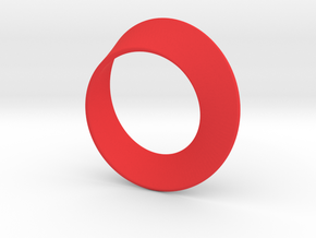 Small Mobius Strip in Red Processed Versatile Plastic: Small