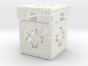 Woven Jewelry Box in White Strong & Flexible Polished