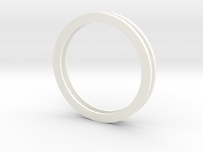Idler Ring Multiple in White Strong & Flexible Polished