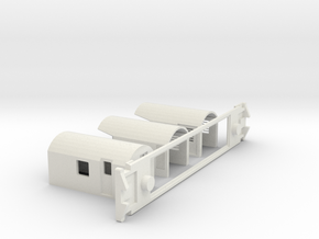 AG Luggage/Generator, NZ, (S Scale, 1:64) in White Strong & Flexible