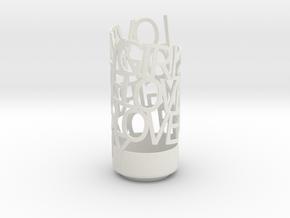 Lovely Girls Love Me Lovely in White Natural Versatile Plastic