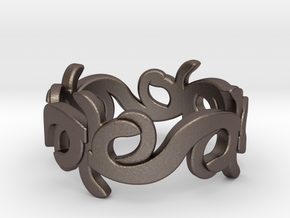 Ring 11 in Polished Bronzed Silver Steel