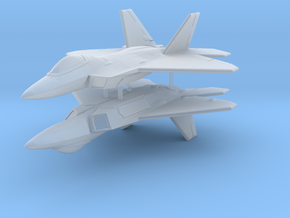 1/285 F-22A Raptor (x2) in Smooth Fine Detail Plastic
