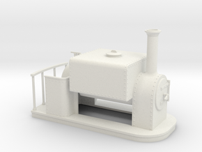 On16.5 old style Square saddle tank  in White Strong & Flexible