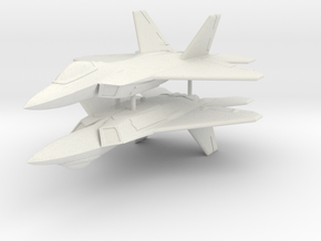 1/285 F-22A Raptor (x2) in White Natural Versatile Plastic