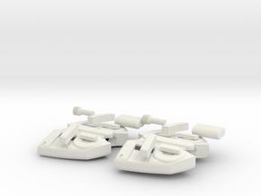 Web-shooters (TASM2) in White Natural Versatile Plastic
