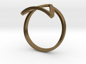 Dark Side Triangle Ring in Natural Bronze