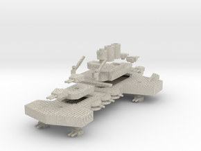 Jarv Class Battleship in Natural Sandstone