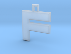 ABC Pendant - F Type - Solid - 24x24x3 Mm - 01 in Smooth Fine Detail Plastic