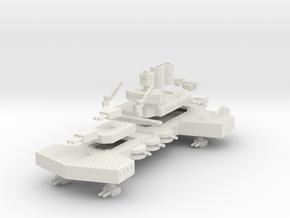 Jarv Class Battleship in White Natural Versatile Plastic