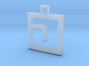 ABC Pendant - J Type - Solid - 24x24x3 mm in Smooth Fine Detail Plastic