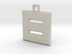 ABC Pendant - 8 Type - Solid - 24x24x3 mm in Natural Sandstone