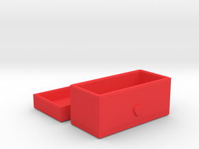 Jewelry Box in Red Processed Versatile Plastic