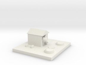 The Dog House in White Natural Versatile Plastic