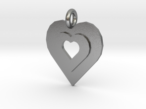 heart of gold in Natural Silver