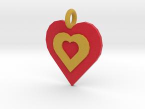 3 hearts in Full Color Sandstone