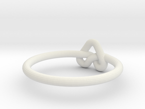 Love Knot-sz20 in White Natural Versatile Plastic