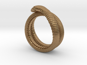 Snake Ring (various sizes) in Natural Brass
