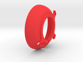 Ring Illum Elliptical Reflector in Red Processed Versatile Plastic